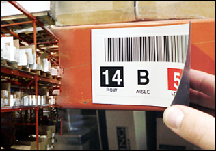 Home warehouse labels from label magnet