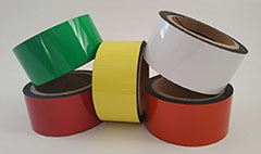Writ-on/Wipe Colored Flexible Magnets